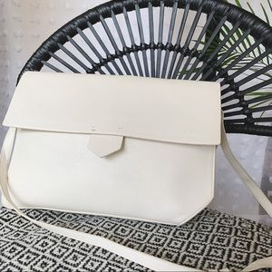 ZARA TRAFALUC White Vegan Leather Satchel